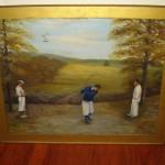 Golf Folk Art Painting